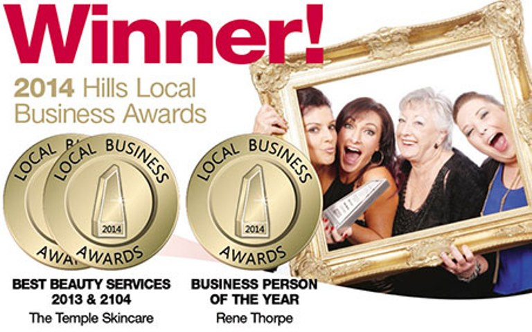 2013 and 2014 WINNER Local business awards Beauty Services
