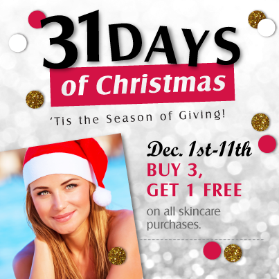 31 Days of Christmas spoiling… skincare sale