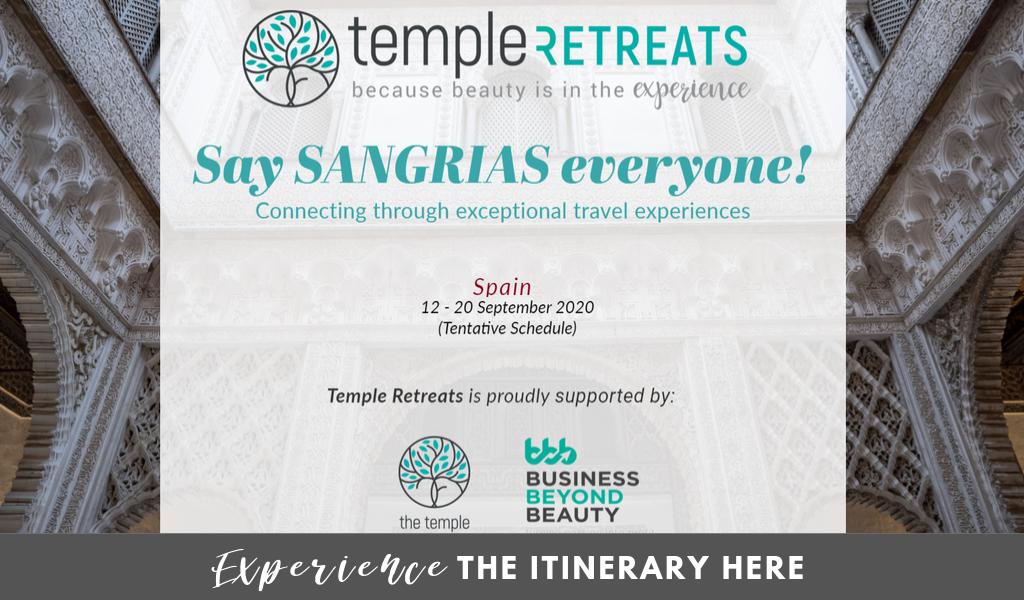 temple retreats spain itinerary