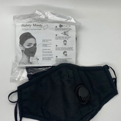 Protective Face Mask with 2 filters and valve