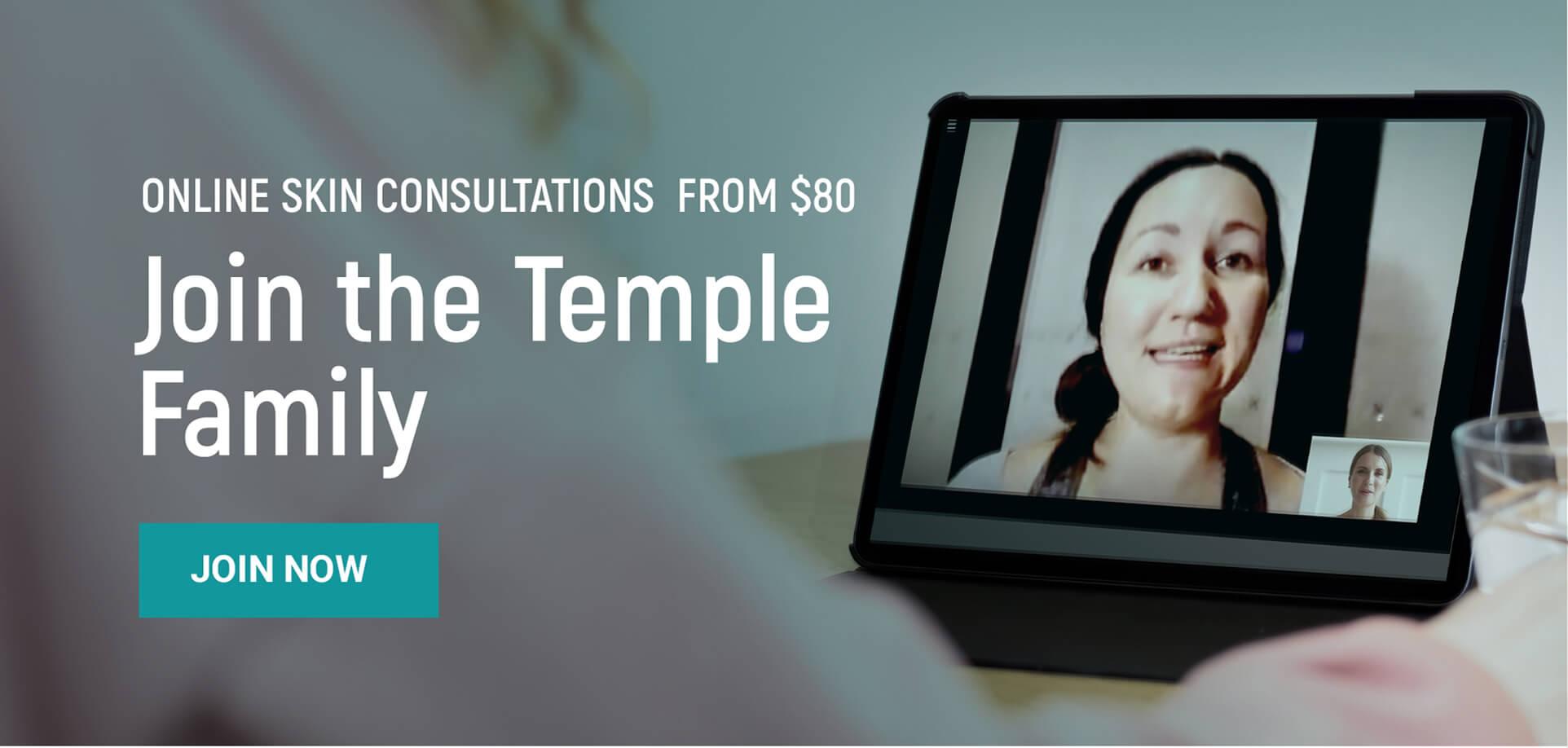 virtual consultation temple skincare & spa