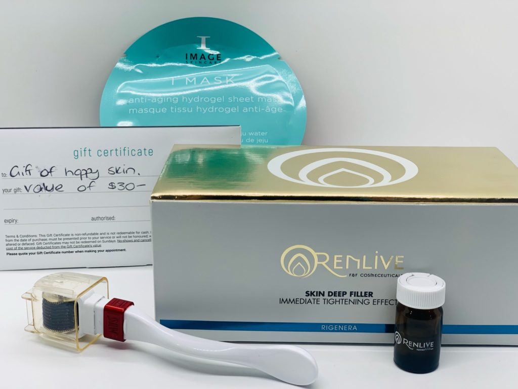 At Home Filler & Tightening Roller kit with FREE $30 voucher and sheet mask